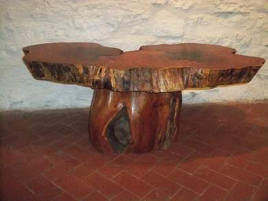 Double Stump Coffee Table Front Fp
